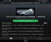 I opened Spotify today and this appeared, I wanted to know if this album is available for everyone or just for people in Argentina. Or is it that every country has one like these? For example: Live in Brazil (xxxx - xxxx) from ������������xxxx com ��������������������������������������������������� ������������ ��������������� ��������������� ������